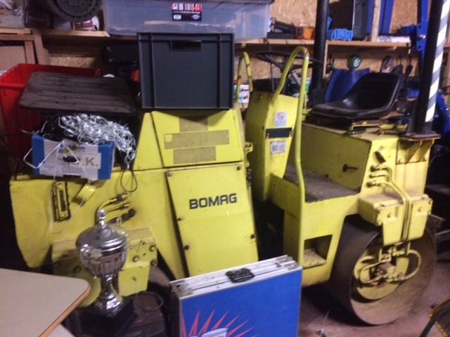 The Bomag roller offered for sale by Topsham SJ