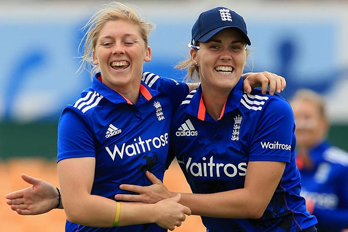 Storm captain Heather Knight (left), pictured here on England duty