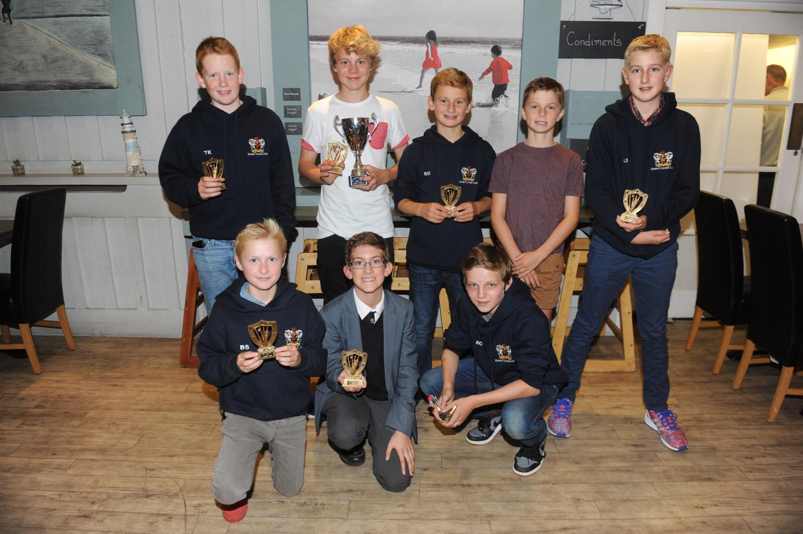 Exeter U13s EDYL double-winning side