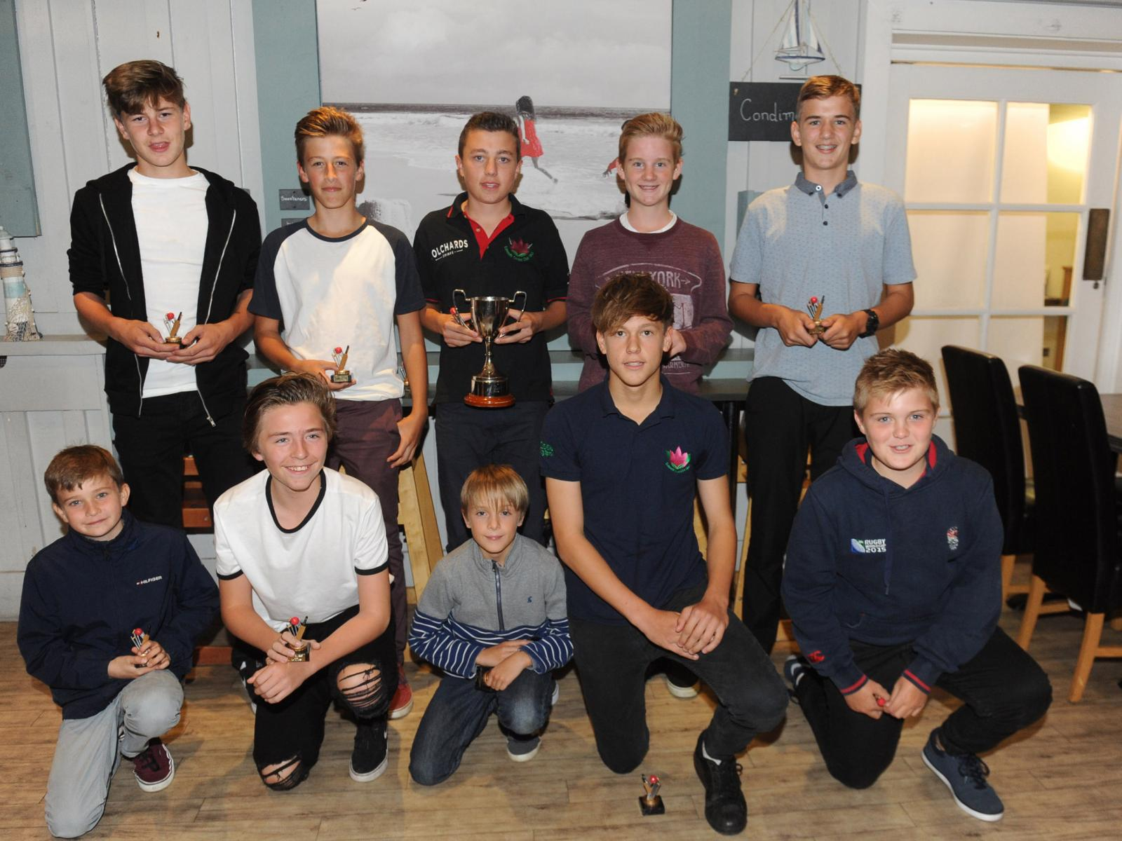 Exmouth U14s, who did the double in their age group