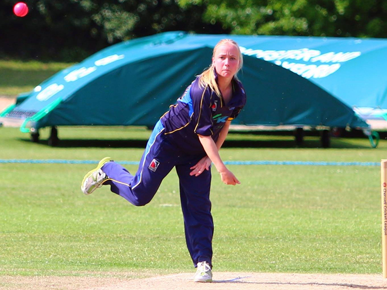 Becca Silk 0 four wickets for Woodbury & Newton SC in their win over Ottery II