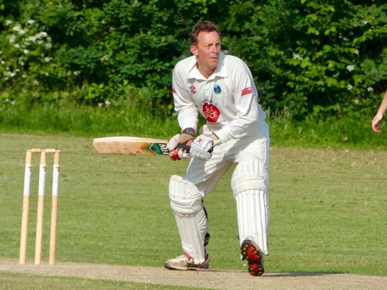Martin Causey making runs for Ashburton in the win over Chagford