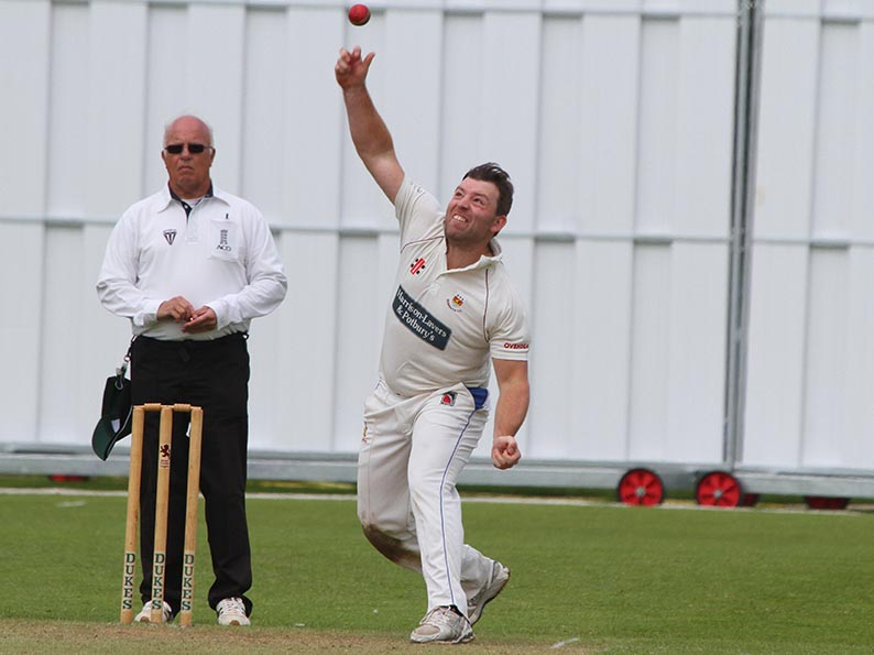 Matt Cooke - flight and guile earned him a four-wicket haul