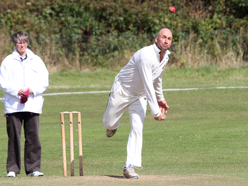 Chris Cook - runs and wickets for Devon O50s in the win over Isle of Wight