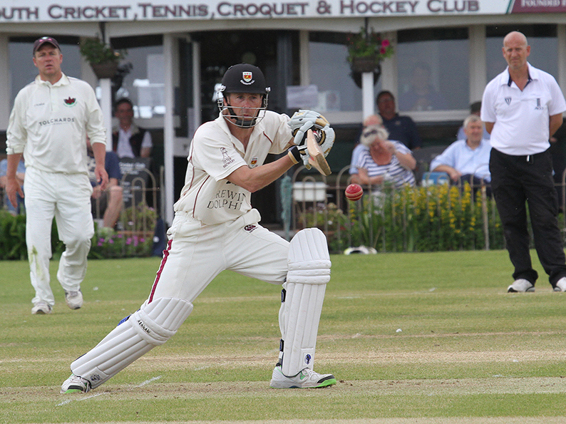 Anthony Griffiths - he hit a ton for Sidmouth II against Torquay on the Fortfield