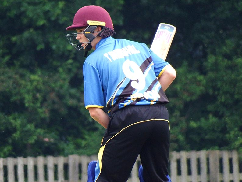Taylor Ingham-Hill, who made early runs for Bovey II against Kingsbridge