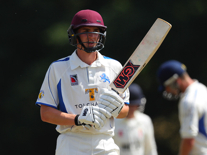 Ton-up Tommy! Devon batter Tom Lammonby, who took a century off Shropshire