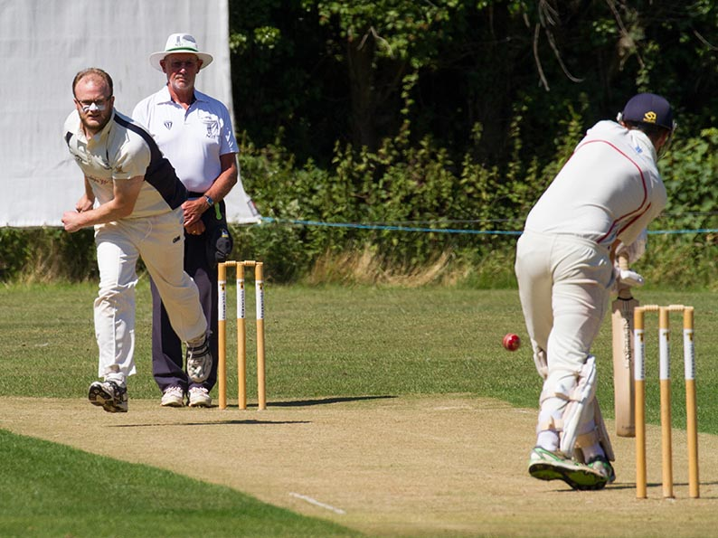 Will Harrison - three wickets for Ottery in the win over Sidmouth