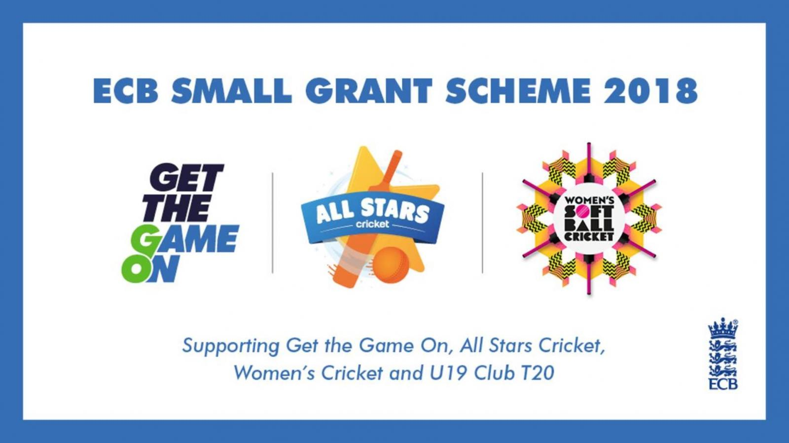 Devon clubs can apply for up to £4,000 following the launch of the 2018 ECB Small Grant Scheme.
