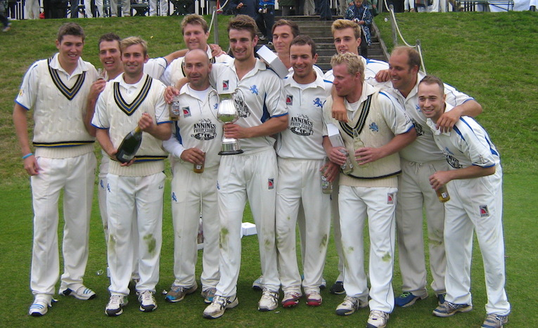 The 2014 Unicorns Trophy-winning team after their victory over Oxfordshire